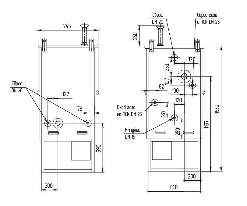 Газорегуляторные пункты шкафные ГРПШ-07-2У1